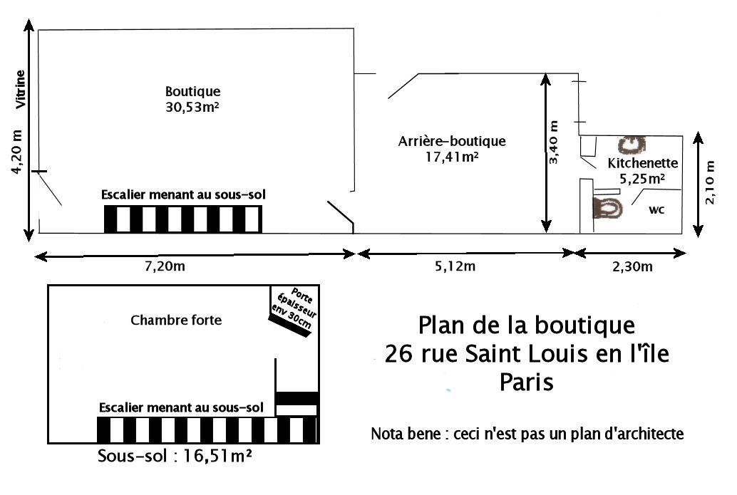 local commercial louer paris le saint louis plan d 39 acc s. Black Bedroom Furniture Sets. Home Design Ideas